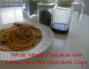Whole Wheat Pancakes with Lemon and Mini Chocolate Chips