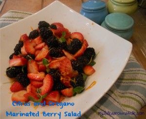 Citrus and Oregano Marinated Berry Salad