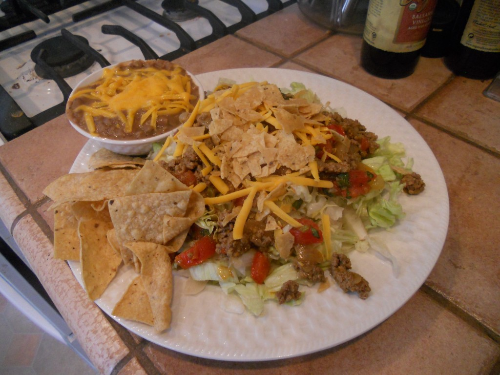 Lunch-time Taco Salad!
