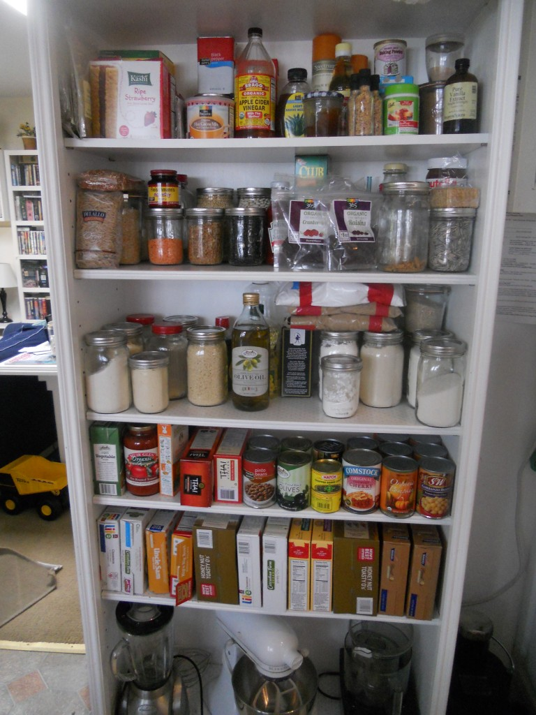 Clean Pantry (made from a bookcase!)