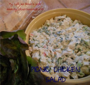 Picnic Chicken Salad from myliifeasrobinswife.com