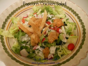 Popcorn Chicken Salad