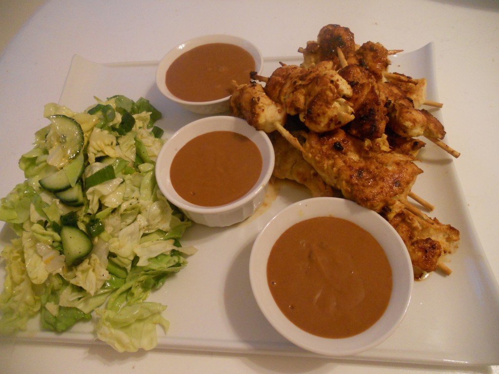 Yogurt Marinated Chicken Satay