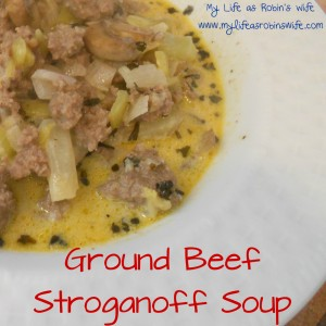 Ground Beef Stroganoff Soup