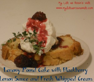 Lemony Pound Cake with Sauce