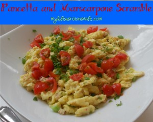 Pancetta and Marscarpone Scramble