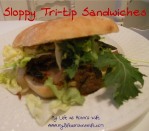 Sloppy Tri-tip Sandwiches