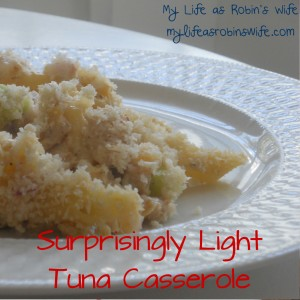 Surprisingly Light Tuna Casserole
