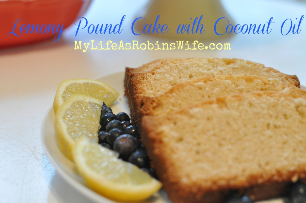 Lemony Pound Cake with Coconut Oil