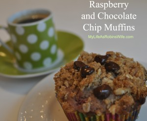 Raspberry and Chocolate Chip Muffins
