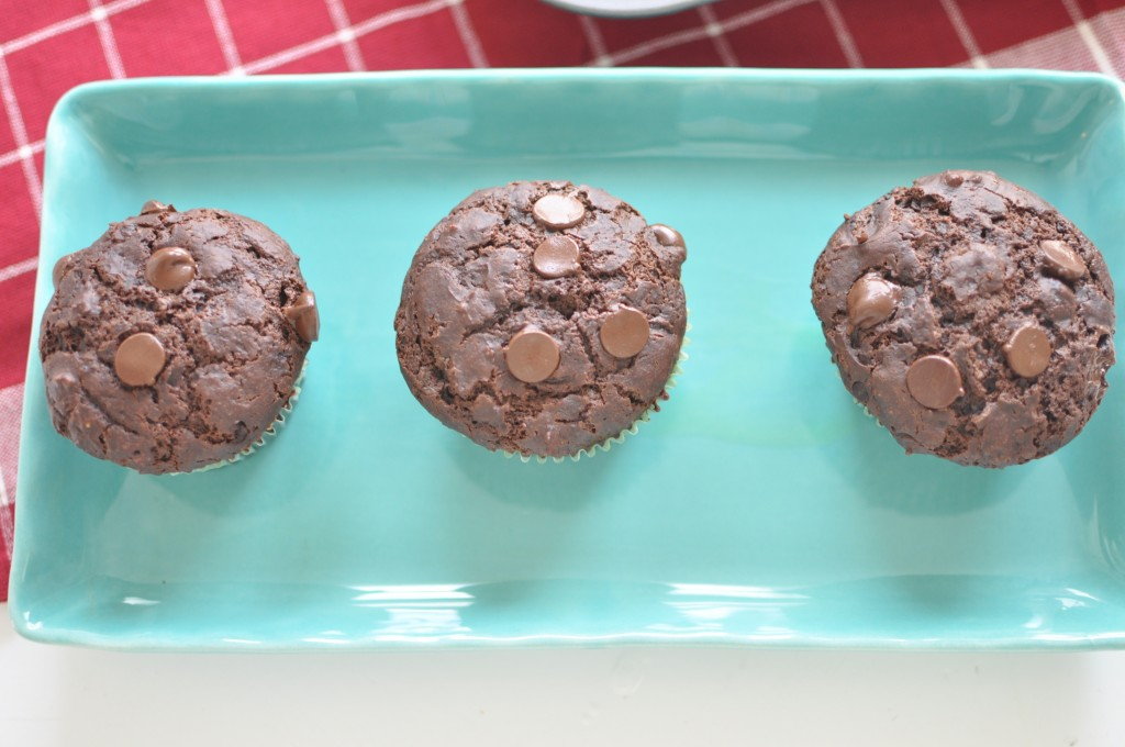Double Chocolate Muffins (with Coconut Oil!) by MyLifeAsRobinsWife.com