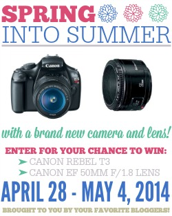 Canon Rebel T3 Camera Giveaway!