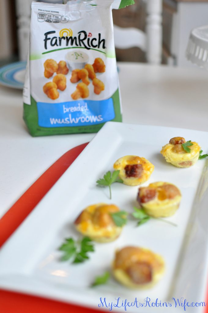 Breaded Mushroom and Sausage Breakfast Cups by MyLifeAsRobinsWife.com