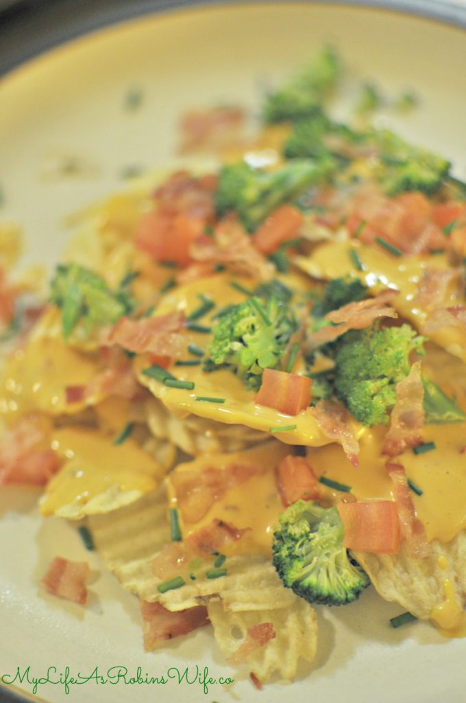 Loaded Baked Potato Nachos by MyLifeAsRobinsWife.com