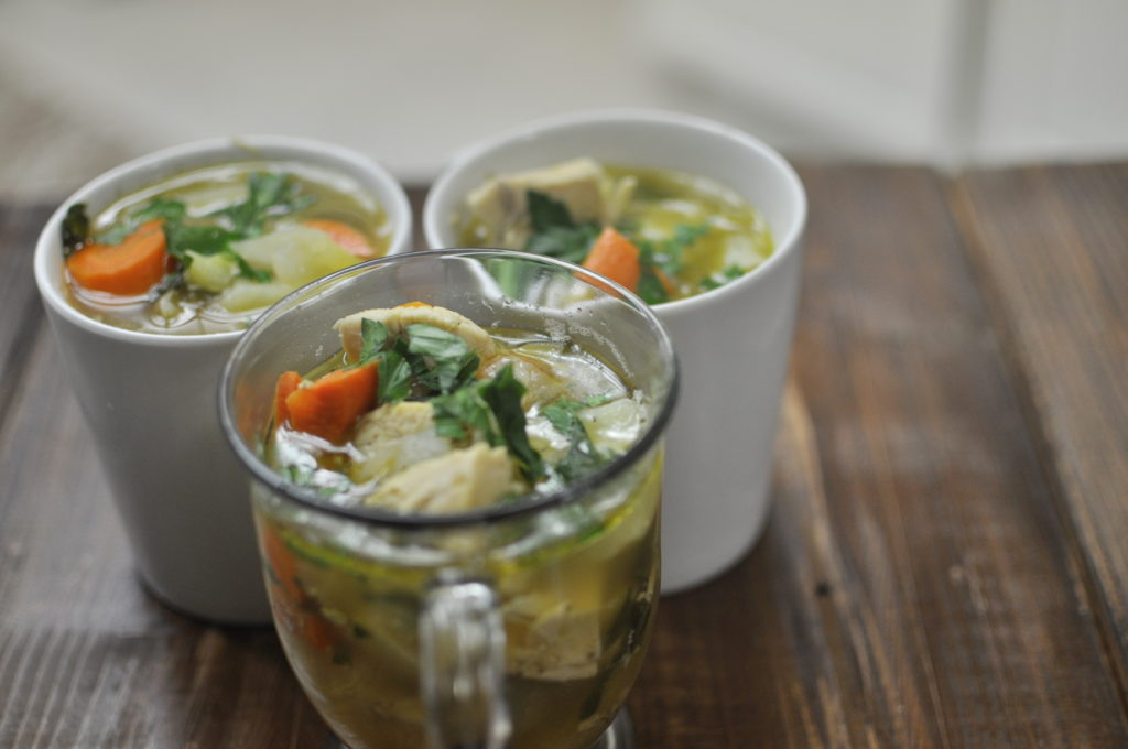 Homemade Chicken and Veggie Soup