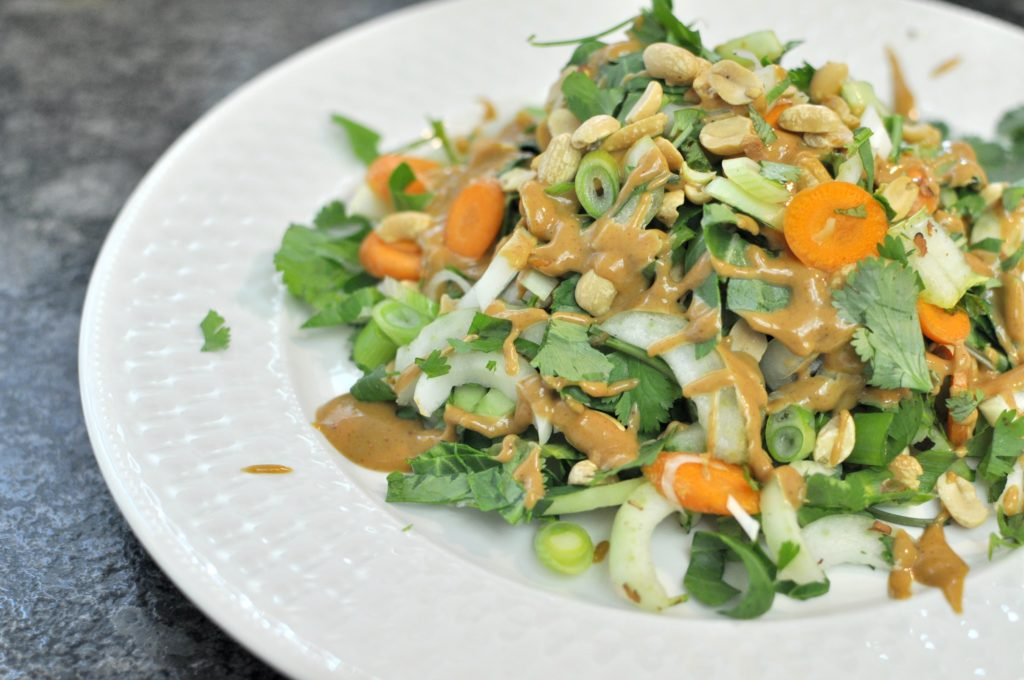 Spicy Thai Peanut Bok Choy Salad
