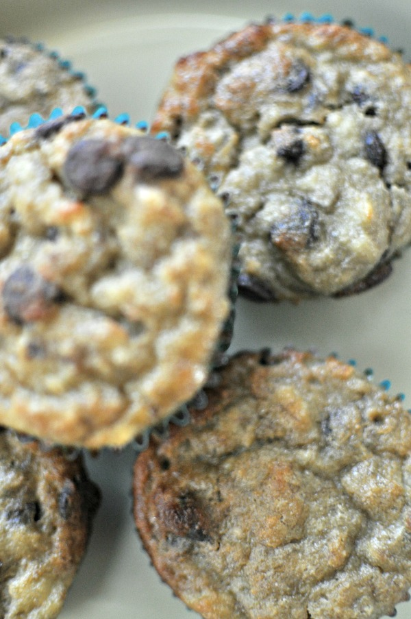 Grain Free Banana Chocolate Chip Muffins