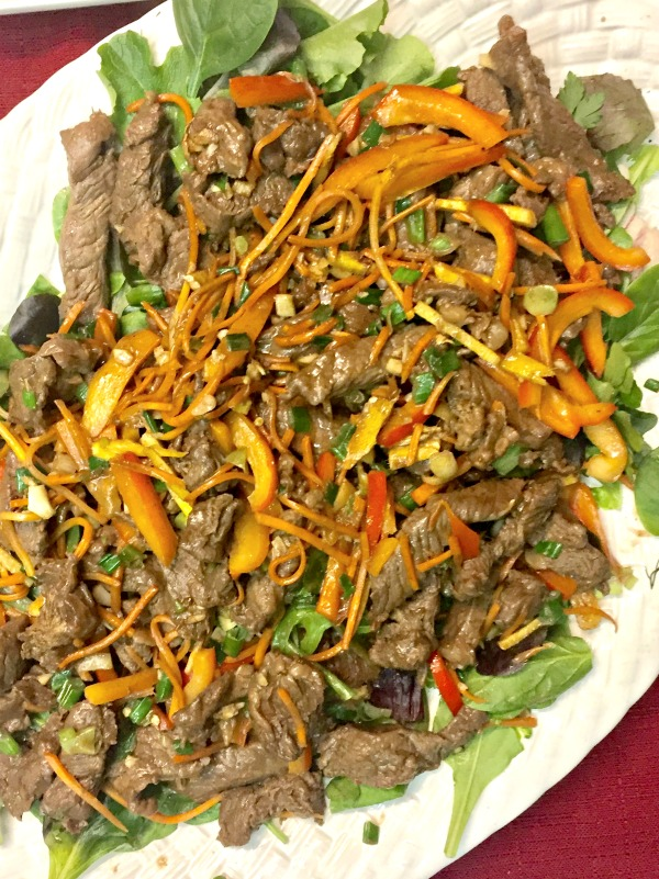 Mongolian Beef and Greens