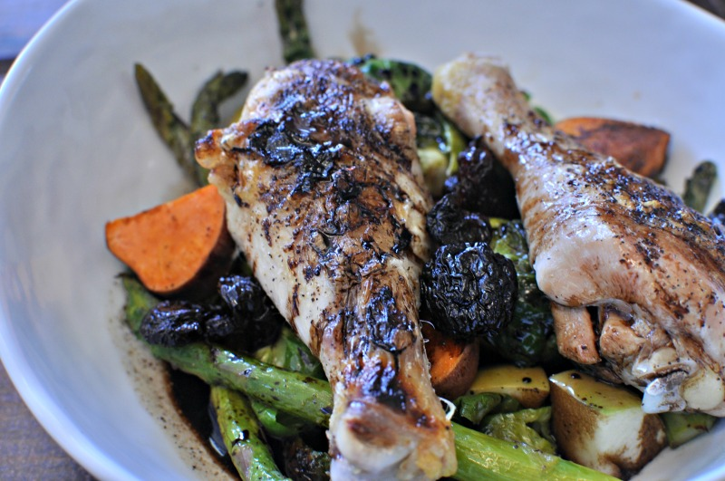 Roast Chicken Legs with Harvest Veggies and Apples2