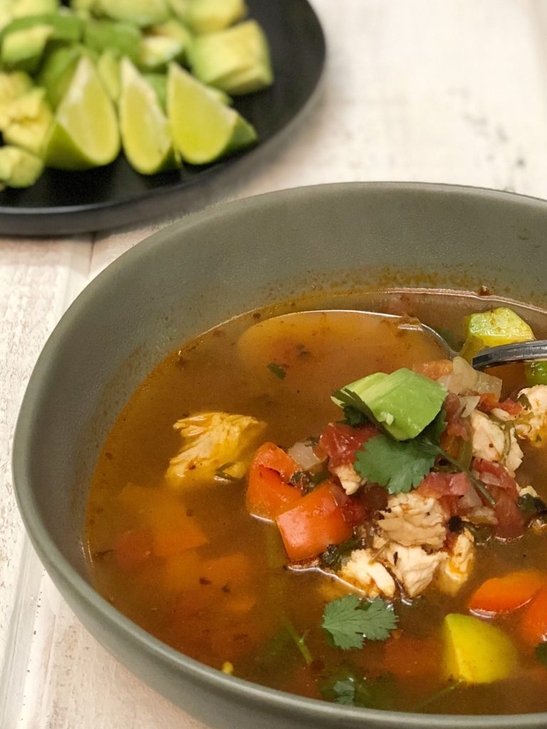 Fast and Easy Mexican Chicken Soup