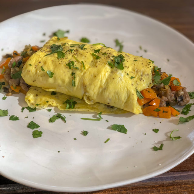 Sausage and Peppers Omelet